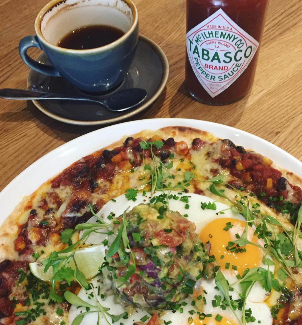 moksha caffe brighton - brunch take on huevos rancheros