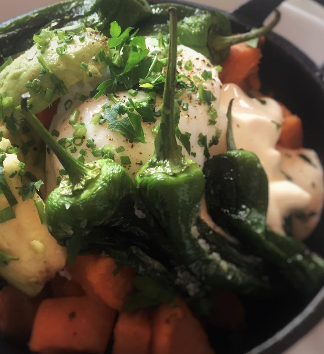 flour pot kitchen hove - padron pepper stew closeup