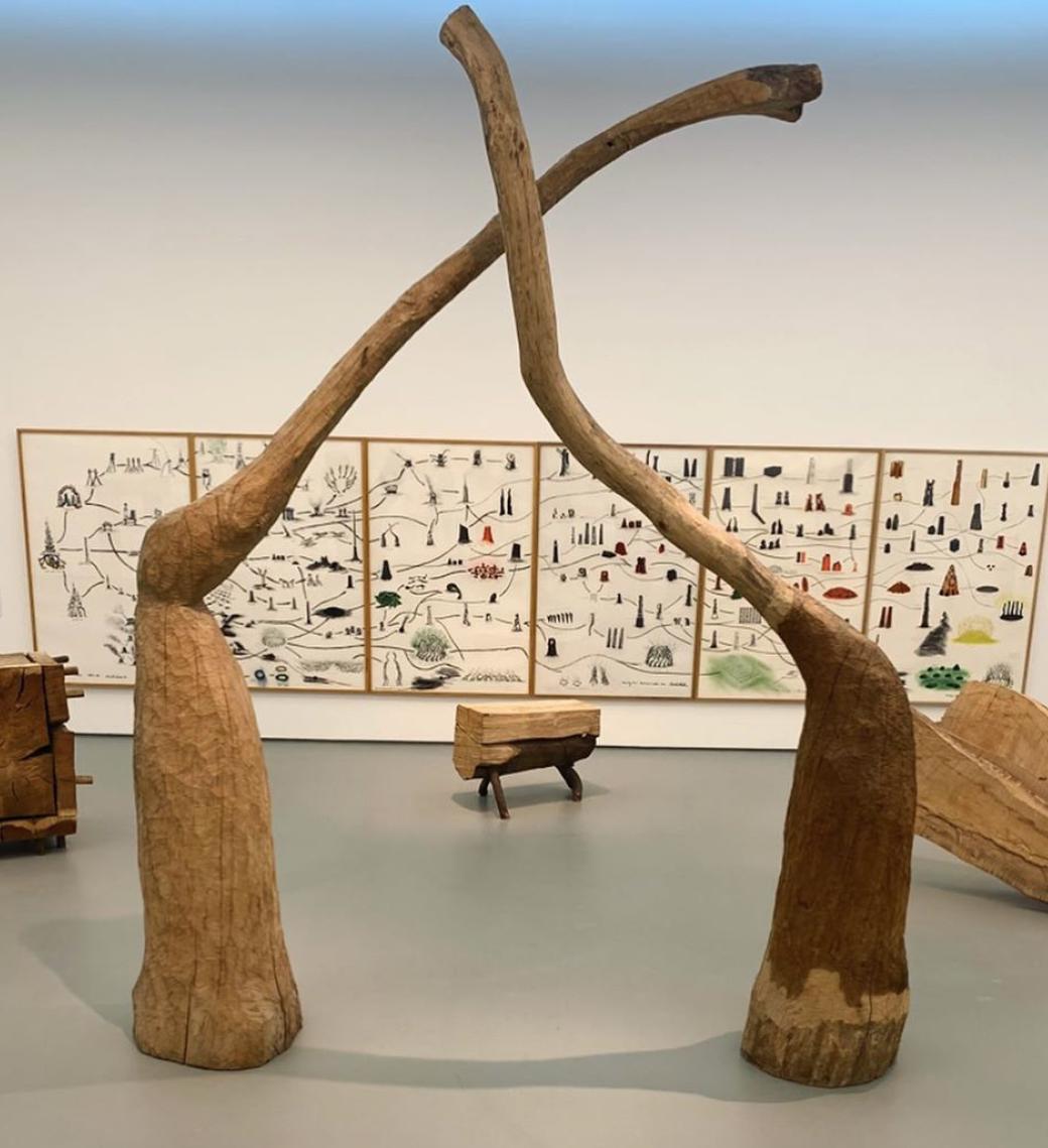 towner gallery eastbourne - david nash 200 seasons wooden sculptures